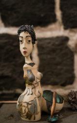 Woman sculpture (salt cellar)/Քանդակ կին (աղաման)