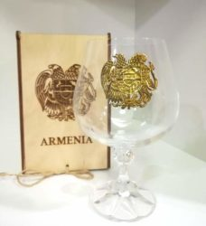 Glass of brandy, with Coat of arms, big